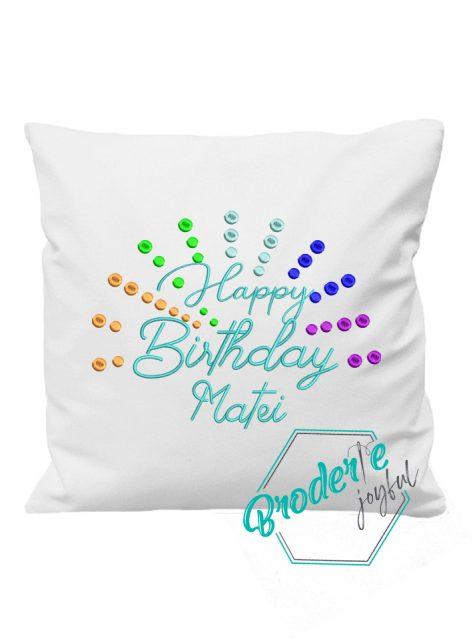 Pernuta personalizata happy birthday