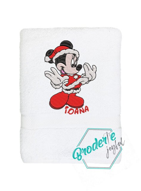 Prosop de baie personalizat Santa Minnie