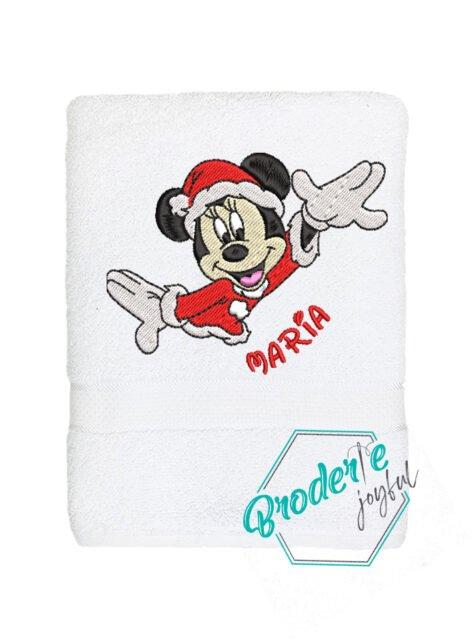 Prosop de baie personalizat Santa Minnie JS4